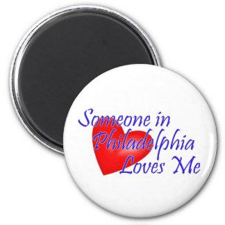 Someone in Philadelphia Loves Me Magnet