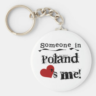 Someone In Poland Loves Me Key Ring