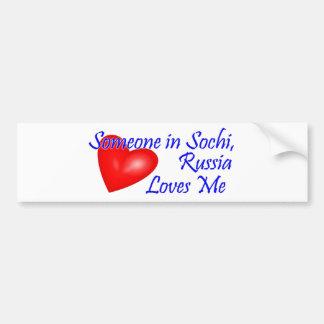 Someone in  , Russia Loves Me Bumper Stickers
