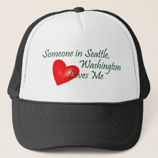 Someone In Seattle Loves Me Cap