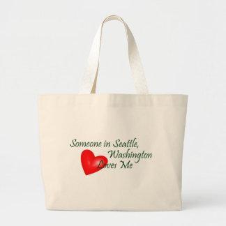 Someone In Seattle Loves Me Jumbo Tote Bag
