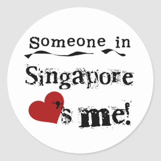 Someone In Singapore Loves Me Classic Round Sticker