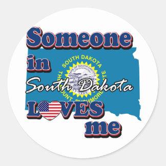 Someone in South dakota loves me Sticker
