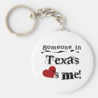 Someone In Texas Loves Me Basic Round Button Key Ring