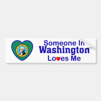 Someone In Washington Loves Me Car Bumper Sticker