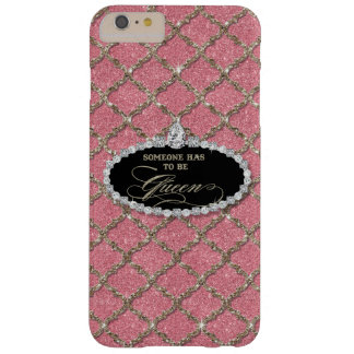 Someone Must be Queen, Quatrefoil Jewel Glitter Barely There iPhone 6 Plus Case