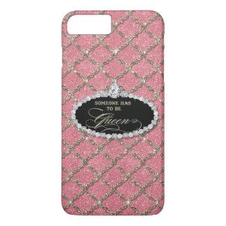 Someone Must be Queen, Quatrefoil Jewel Glitter iPhone 7 Plus Case