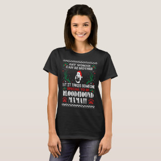 Someone Special Bloodhound Mama Christmas Ugly Tee