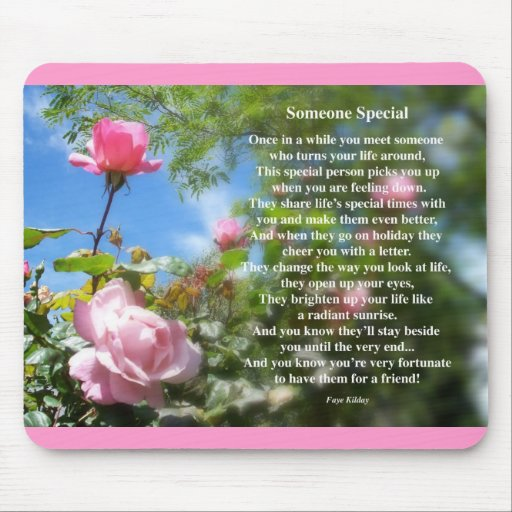 Someone Special Friendship Poem Mouse Pads