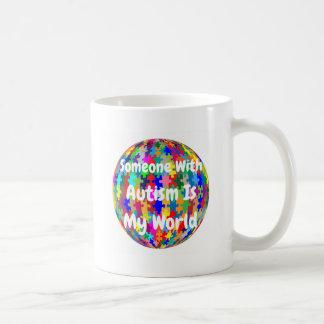 Someone With Autism Is My World Basic White Mug