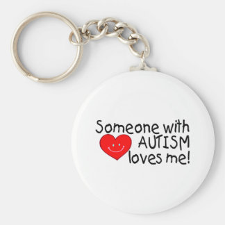 Someone With Autism Loves Me (Hrt) Key Ring