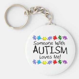 Someone With Autism Loves Me Key Ring