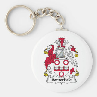 Somerfield Family Crest Basic Round Button Key Ring