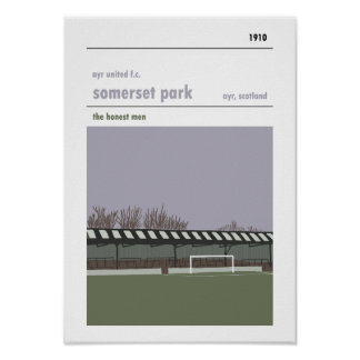 Somerset Park, Ayr. Haynes Manual Style Print. Poster