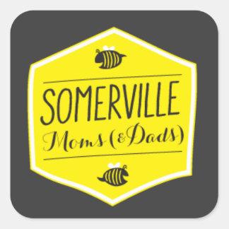Somerville Moms Logo Sticker Black Background