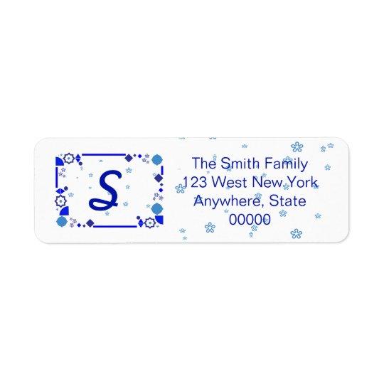 Something Blue Address Label