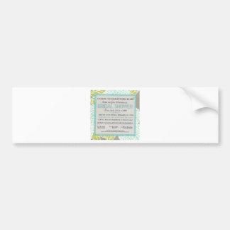 Something Blue Bridal Shower Invitation Bumper Sticker