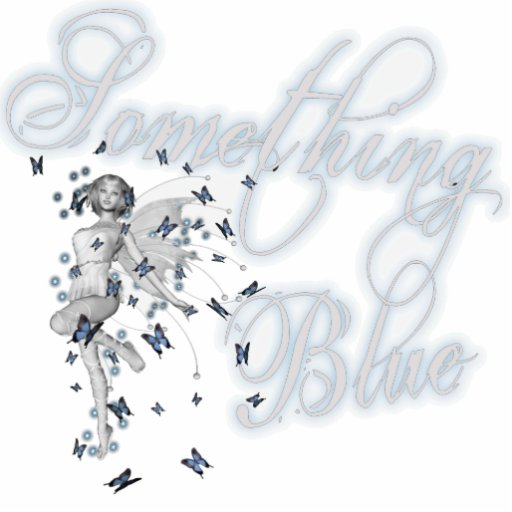 Something Blue Butterfly Fairy - Original Photo Cutouts