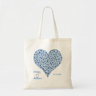 Something Blue Rose Heart Wedding Favor Gift Bag