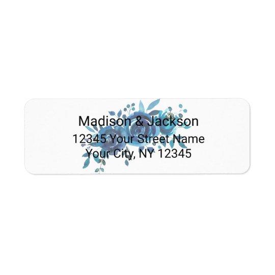 Something Blue Watercolor Wedding Return Address