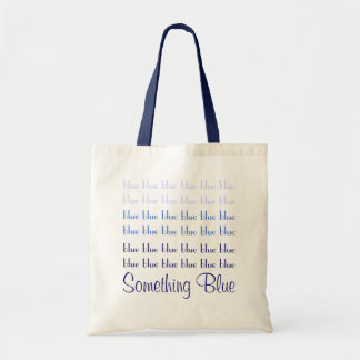 Something Blue Wedding Tote Canvas Bags