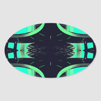 Something Different - Modern Urban Futurism Oval Sticker