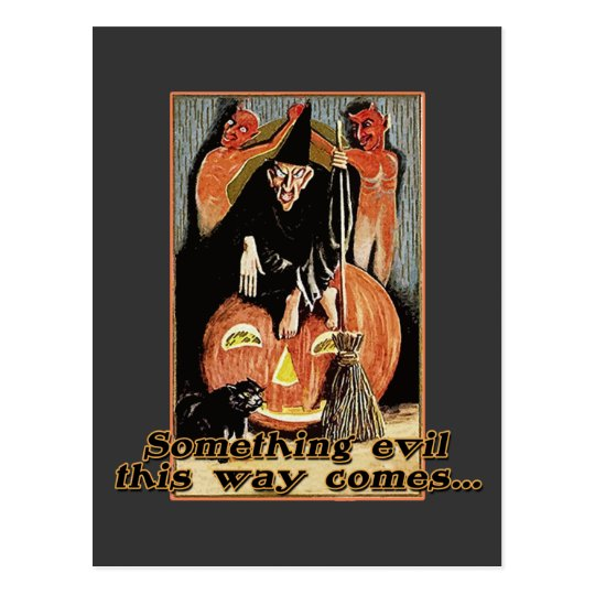 Something Evil This Way Comes Halloween Tees Postcard