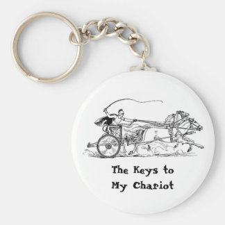"""Something for your """"Chariot"""" Keys! Basic Round Button Key Ring"""
