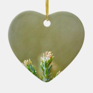 Something green ceramic heart decoration