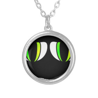 Something is Watching You Round Pendant Necklace