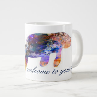 Something New Mug_Watercolor Manatee Large Coffee Mug