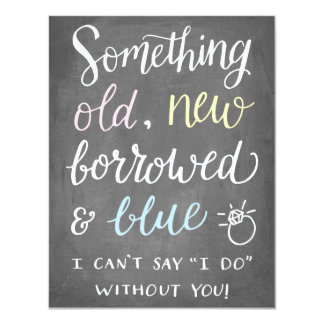 Something Old | Bridesmaid 11 Cm X 14 Cm Invitation Card