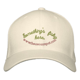 Something s fishy here embroidered hat