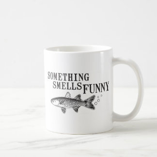 Something smell funnu basic white mug