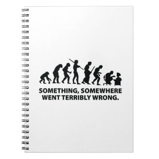 Something, Somewhere Went Terribly Wrong Spiral Notebook