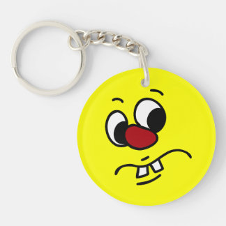 Something Stinky Smiley Face Grumpey Single-Sided Round Acrylic Key Ring
