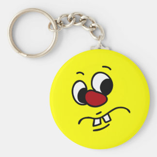 Something Stinky Smiley Face Grumpy Basic Round Button Key Ring