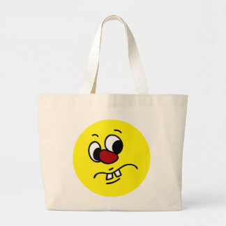 Something Stinky Smiley Face Grumpy Jumbo Tote Bag