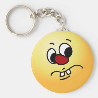 Something Stinky Smiley Face Grumpy Keychains