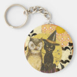 something-wicked basic round button key ring