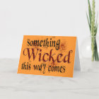 Something Wicked Card