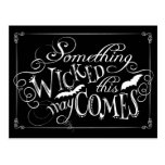 Something Wicked This Way Comes Spooky Postcard