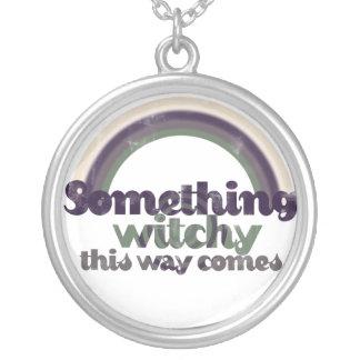 Something Witchy Round Pendant Necklace