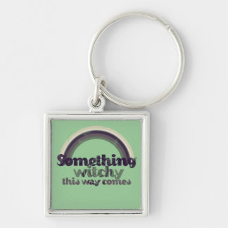 Something Witchy Silver-Colored Square Key Ring