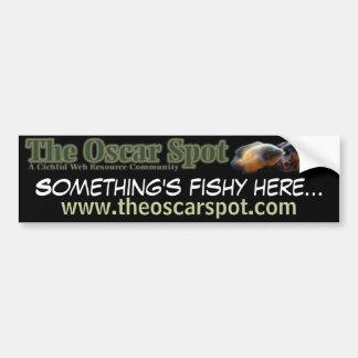 Something's Fishy Car Bumper Sticker