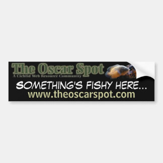 Something's Fishy Bumper Sticker