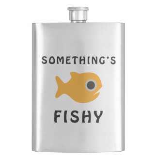 Somethings Fishy Yellow Fish Hip Flask