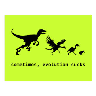 Sometimes evolution sucks postcards