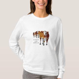 Sometimes I Get Moody: Cows: Pastel: Moo: Humor T-Shirt