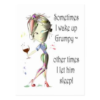 Sometimes I wake up Grumpy! funny Greeting Card
